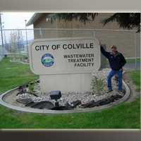 Colville WWTP-facility entry sign